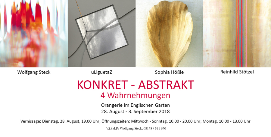 Keyvisual Ausstellung KONKRET – ABSTRAKT