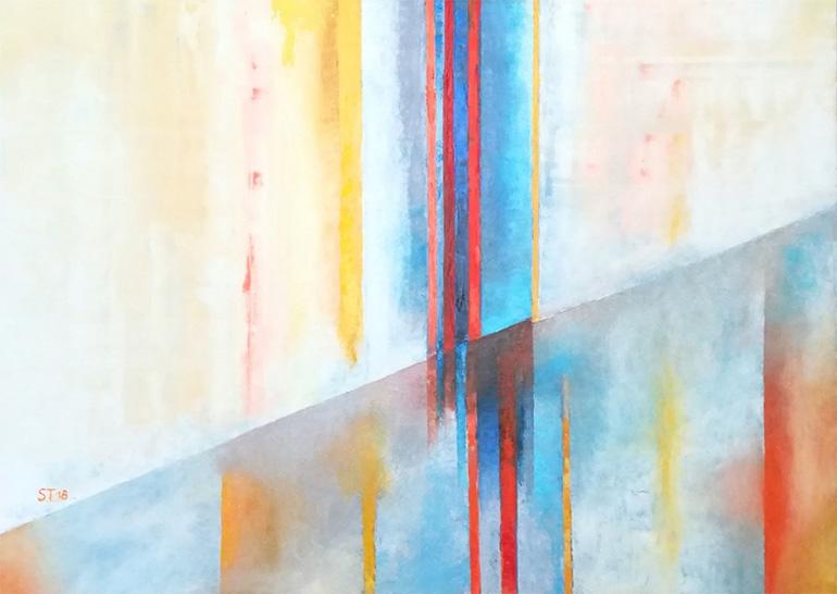 Werk Fortschreiben 1 von der Malerin Reinhild Stötzel