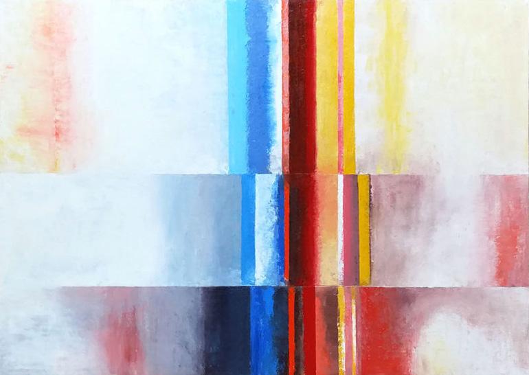 Werk Fortschreiben 2 von der Malerin Reinhild Stötzel