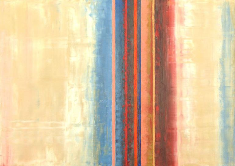 Werk Rhythmus 1 von der Malerin Reinhild Stötzel