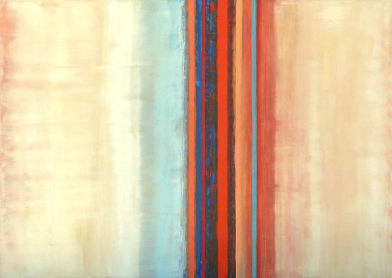 Werk Rhythmus 2 von der Malerin Reinhild Stötzel