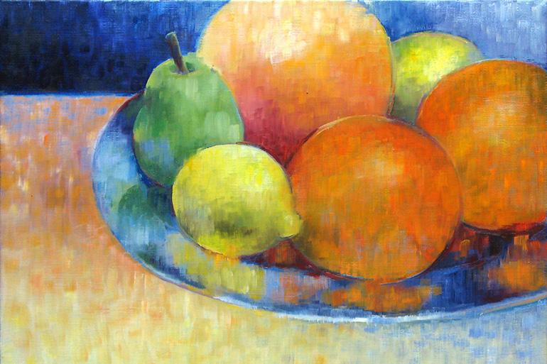 Gemälde aus der Serie 12 Sommerbilder von Reinhild Stötzel