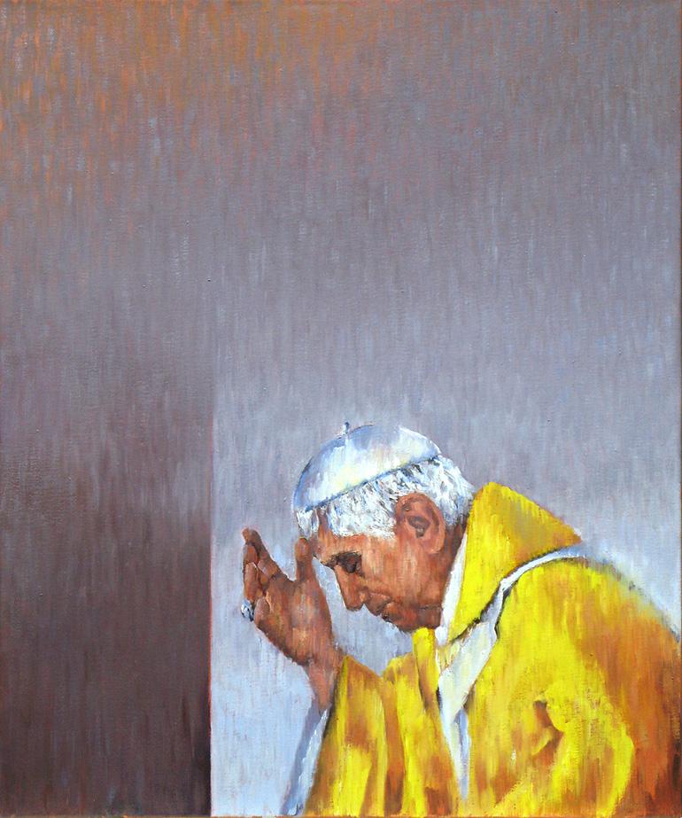 Benedikt XVI., 2012, Öl auf Lw, 50x60