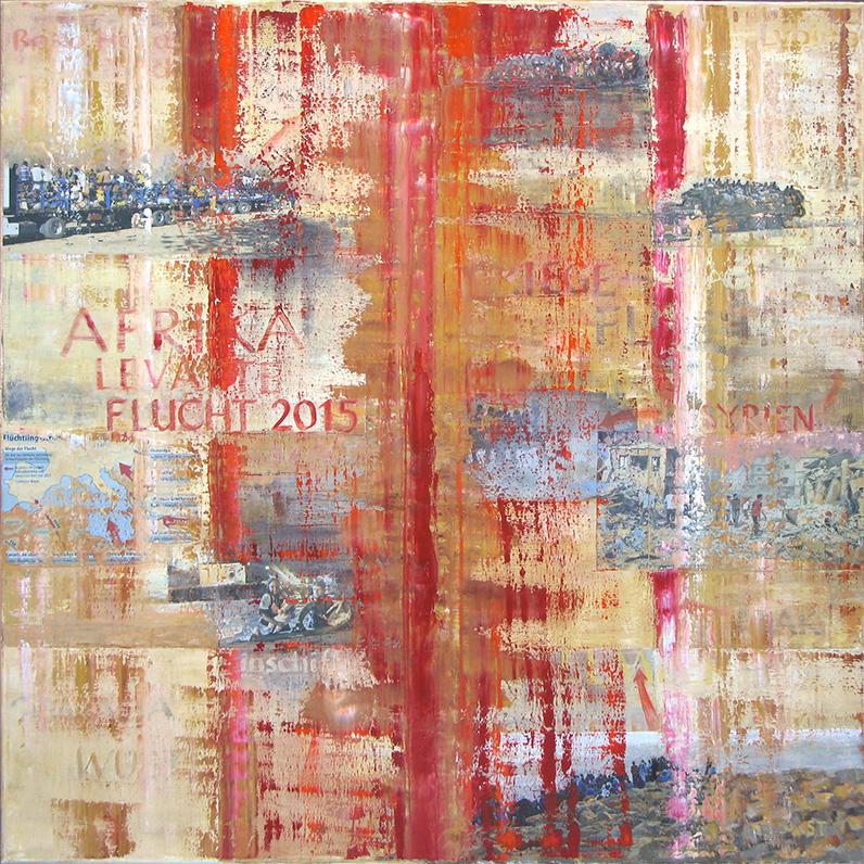 Das Gemälde Flucht I von Reinhild Stötzel