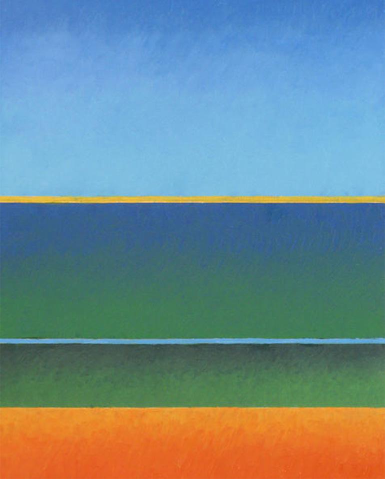 Großer See, Öl auf Panel, 24x30, 2016